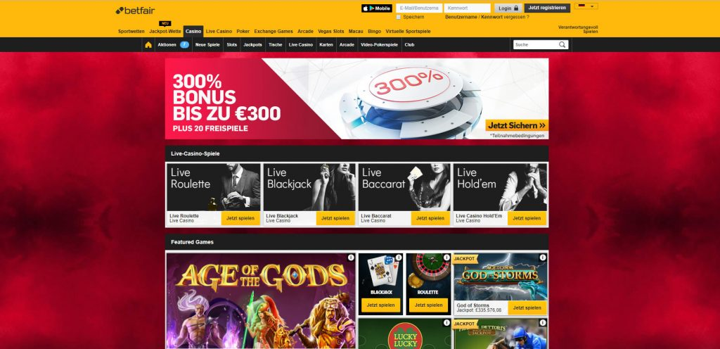 Betfair Casino DE